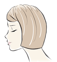 ひこう性脱毛症イメージイラスト
